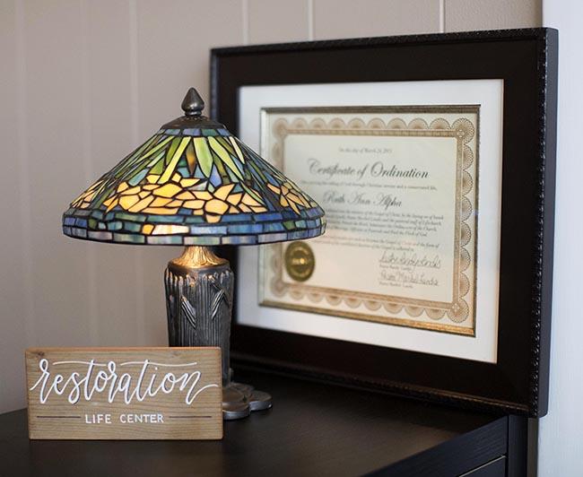 Restoration Life Center Tiffany Lamp