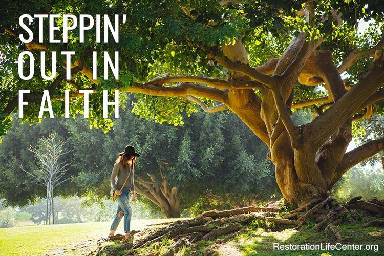 Stepping out Faith